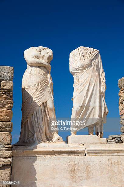 Headless statues in the House of Cleopatra, Delos