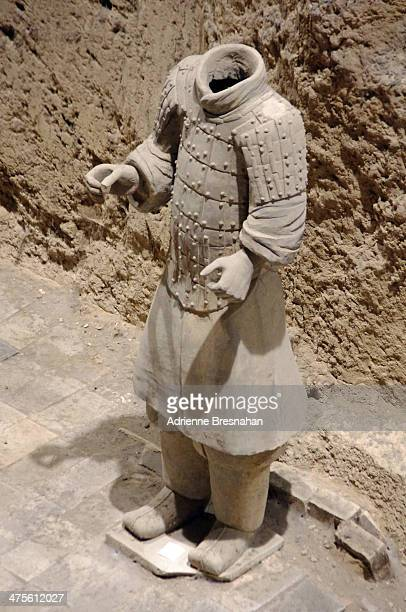 Headless warrior of the Terracotta Army at the Mausoleum of Emperor Qin Shi Huang. Buried with the emperor in 210 to 209 BC, the terracotta warriors...