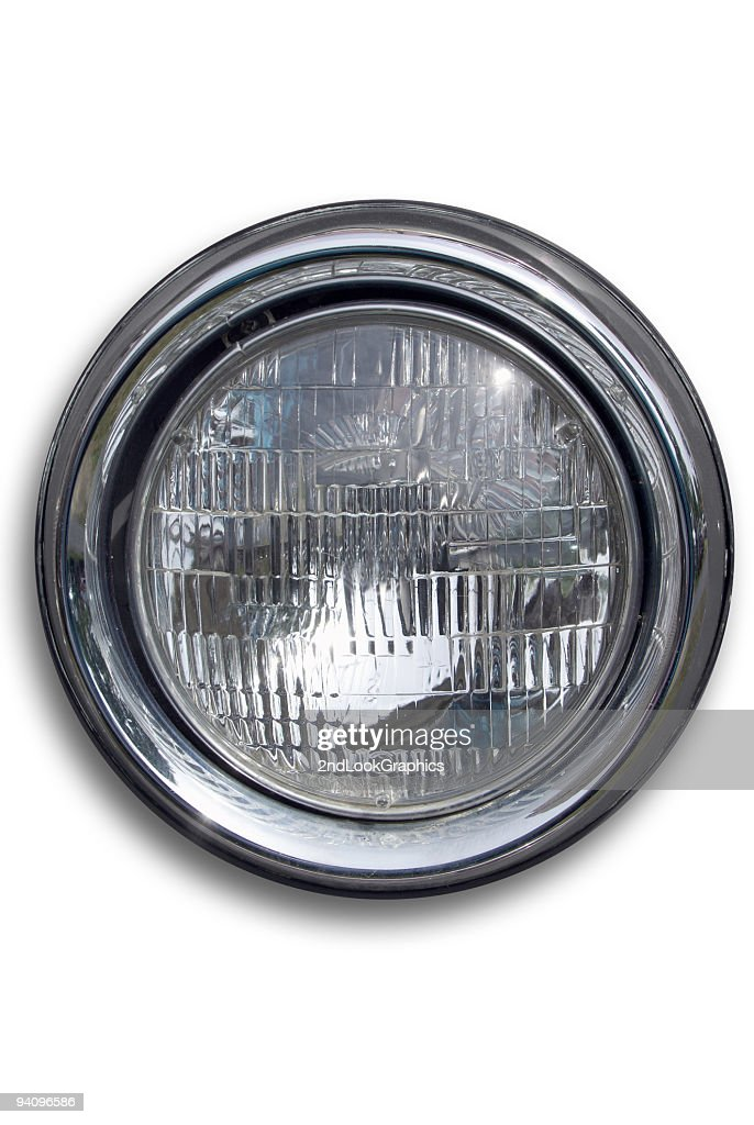Headlight Off - isolated on white : Stock Photo