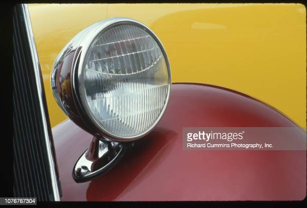 Headlight on 1934 Ford at Car Rally