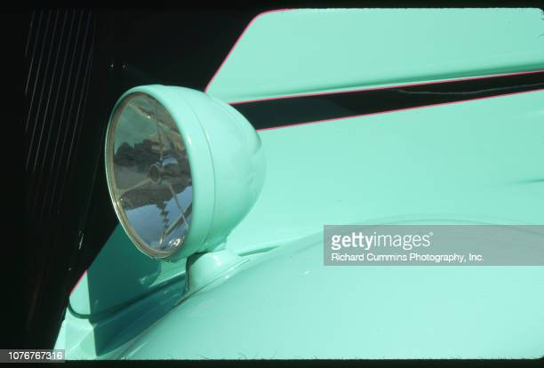 Headlight on Mint Green 1934 Ford