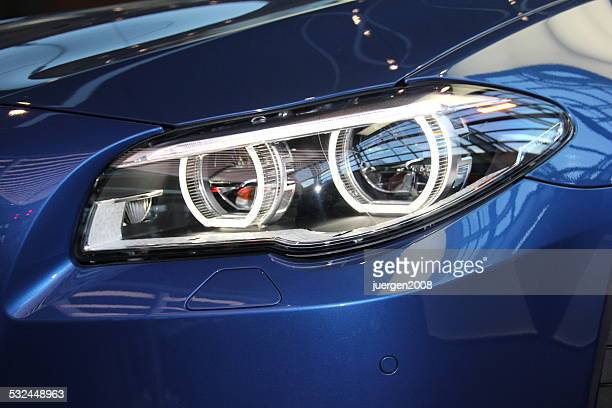 Headlights of a BMW