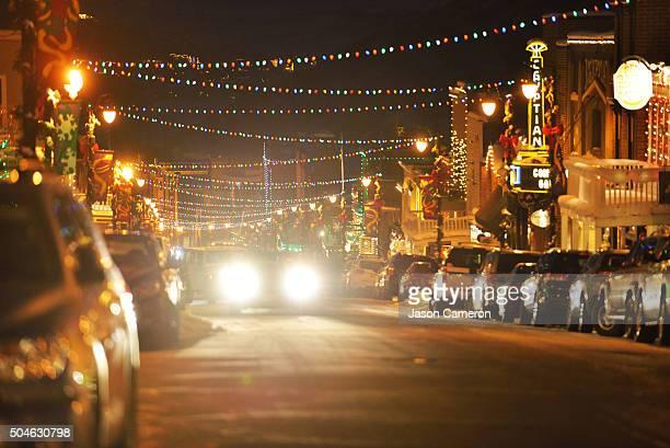 Headlights on Main Street Park City