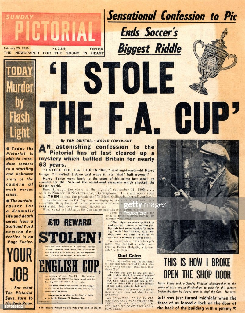 Who Stole The FA Cup? : News Photo