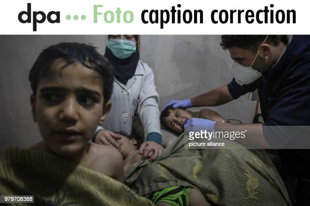 Headline and captions sent to you via FTP on 8 March 2018 of these images from Syria contain unproven statements of facts that cannot be verified The...