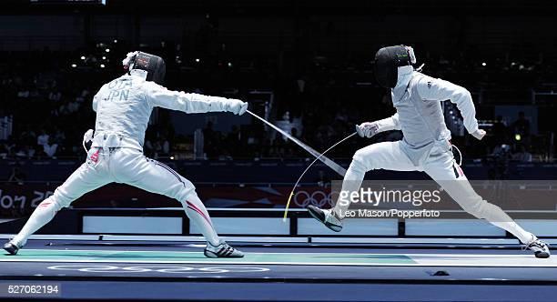 Olympics Fencing Mens Foil Team Semi Final JPN vs GER Kyuki Oia vs Joppich GER Event Code USPW