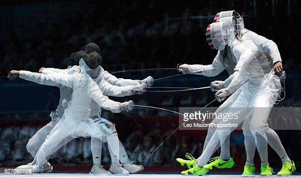 Olympics Fencing Mens Foil Team Semi Final USA vs ITA Baldini ITA vs Race Imboden USA
