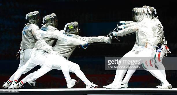 Olympics Men's Fencing Sabre Individual Final Aron Szilagyi HUN vs Diego Occhiuzzi ITA