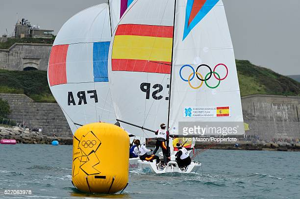 Olympics Sailing Weymouth Womens Elliott 6m Match Racing FRA vs ESP