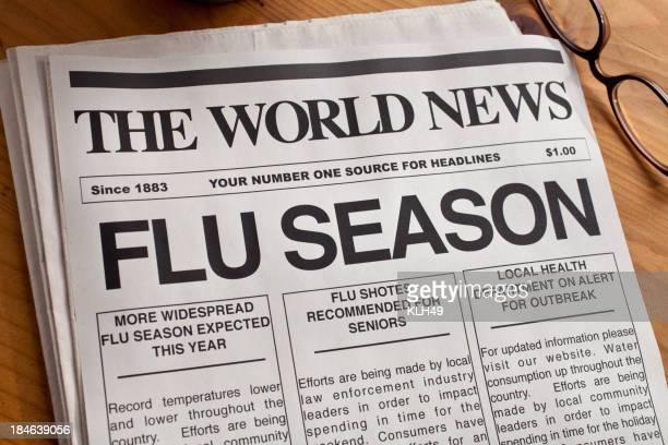 Encabezado de la gripe temporada