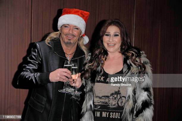 Headliner Bret Michaels and Pop Star Tiffany attend Marquis NYE 2020 at The New York Marriott Marquis on December 31 2019 in New York City