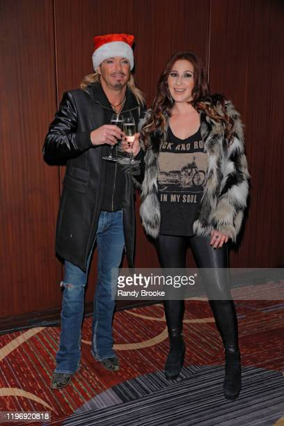 Headliner Bret Michaels and Pop Star Tiffany attends Marquis NYE 2020 at The New York Marriott Marquis on December 31 2019 in New York City