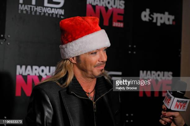 Headliner Bret Michaels attends Marquis NYE 2020 at The New York Marriott Marquis on December 31 2019 in New York City