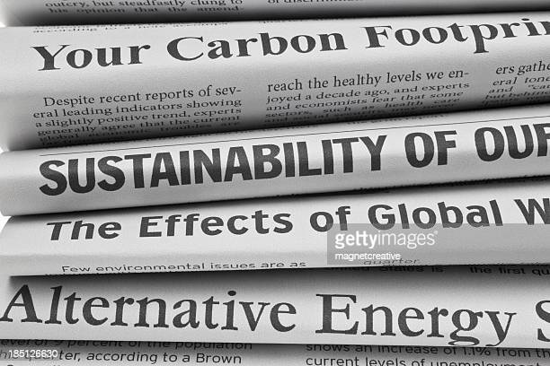 Headlines About Environmental Issues, Closeup