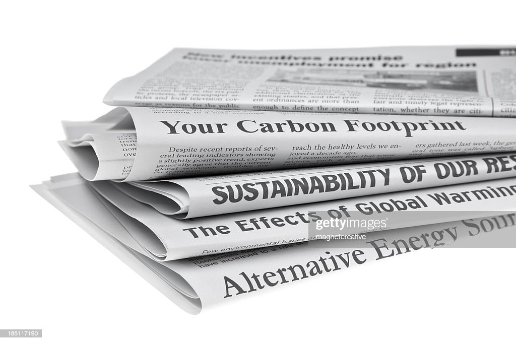 Headlines About Environmental Issues Stock Photo - Getty Images