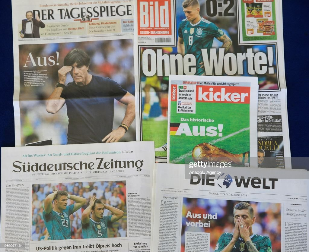 Headlines on Germany's World Cup exit   : News Photo