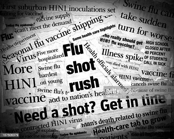 titulares h1n1 - flu virus fotografías e imágenes de stock