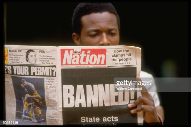 Headlining govt. Banning of 17 anti-apartheid activist orgs. Engrossing non-white youth.