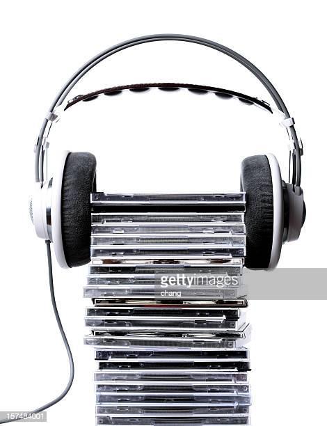 Écouteurs et collection de cd