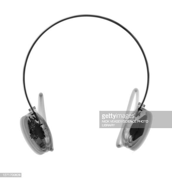 headphones, x-ray - scientific imaging technique stock pictures, royalty-free photos & images