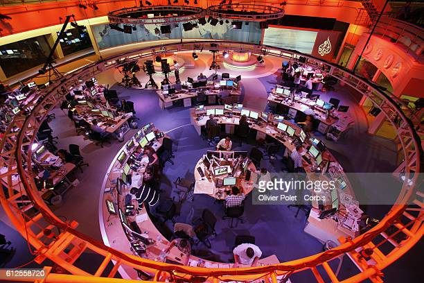 Headquarter of Al Jazeera channel english language International news and current affairs channel based in the Middle East