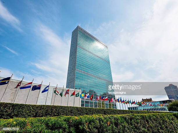 un headquarter - united nations building stock pictures, royalty-free photos & images