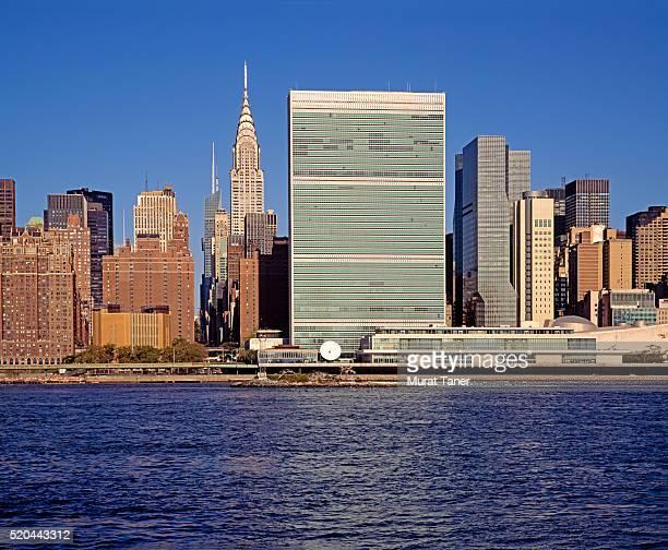 un headquarters and chrysler building - organização das nações unidas - fotografias e filmes do acervo