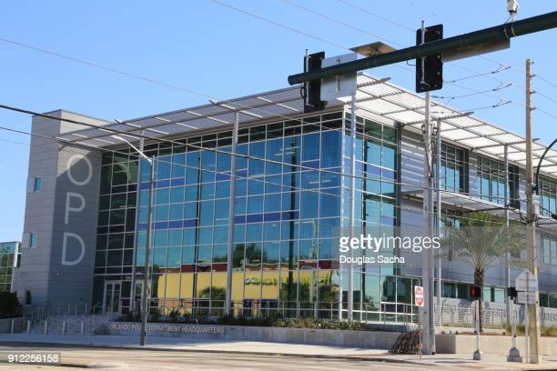 headquarters and crime scene facility of the orlando police department - flasher stock photos and pictures