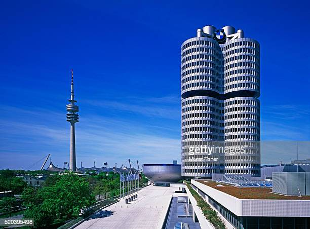 BMW Headquarters and Olympic Tower in Munich