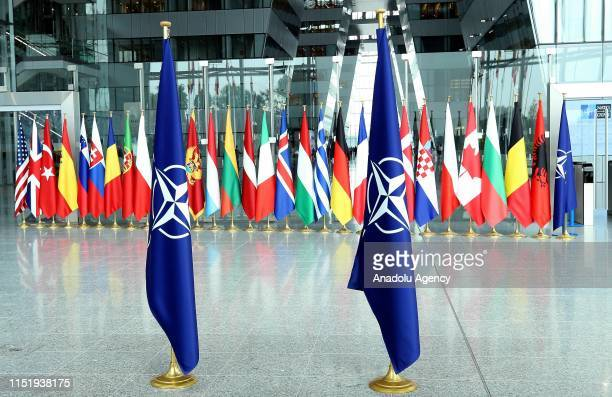 Headquarters building is seen ahead of the NATO Defence Ministers Meeting in Brussels, Belgium on June 26, 2019.