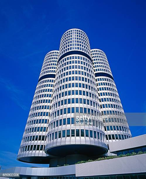 bmw headquarters in munich - bmw stock pictures, royalty-free photos & images