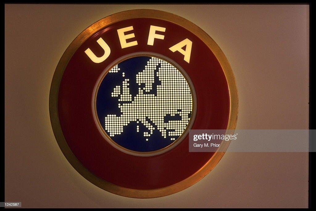 The U.E.F.A. Logo : News Photo