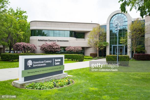 Headquarters logo and signage for American Century Investments in the Silicon Valley town of Mountain View California April 7 2017