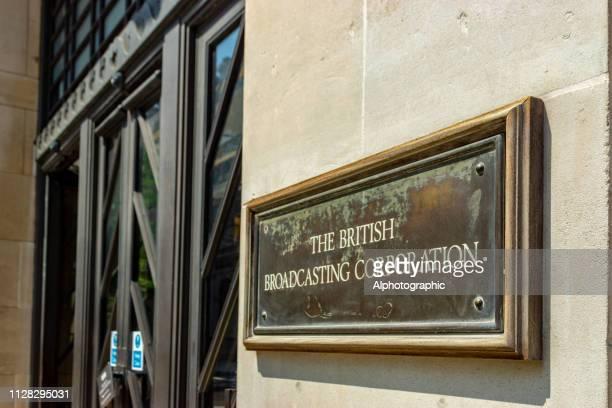 bbc 本社ロンドン - 飾り板 ストックフォトと画像