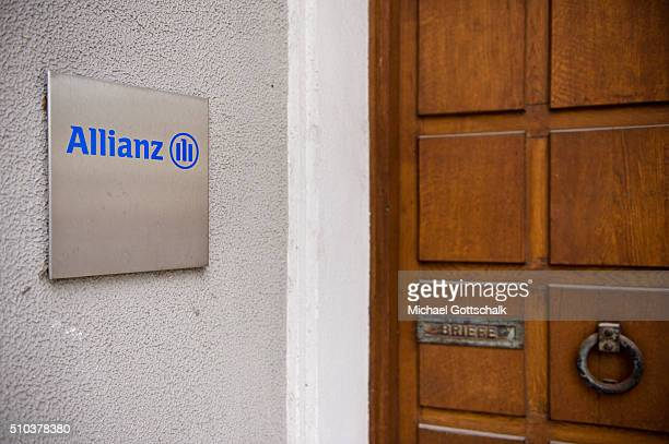 Headquarters of Allianz insurance company on February 15 2016 in Munich Germany