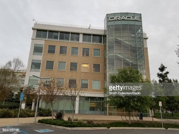 Headquarters of technology company Oracle on an overcast day in Dublin, California, April 9, 2018.
