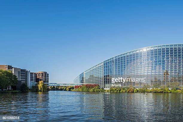 Headquarters of the Council of Europe / CoE / Conseil de l'Europe and the European Parliament / EP at Strasbourg, France.