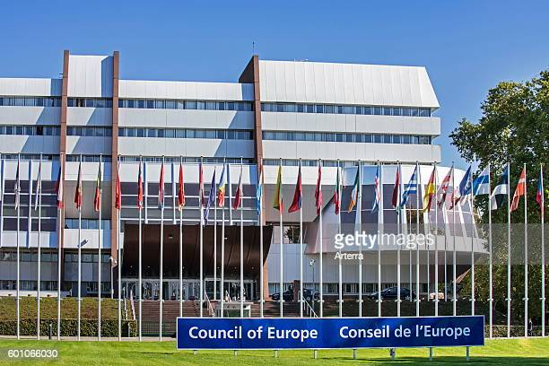 Headquarters of the Council of Europe / CoE / Conseil de l'Europe at Strasbourg, France.