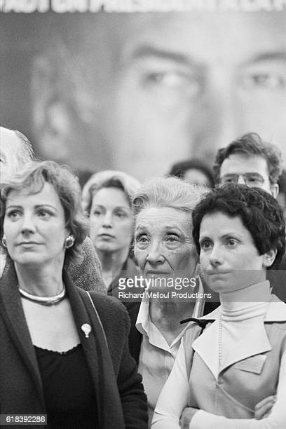 Headquarters of the Union for French Democracy led by Valery Giscard d'Estaing the day of the 1981 presidential election and his defeat by the newly...