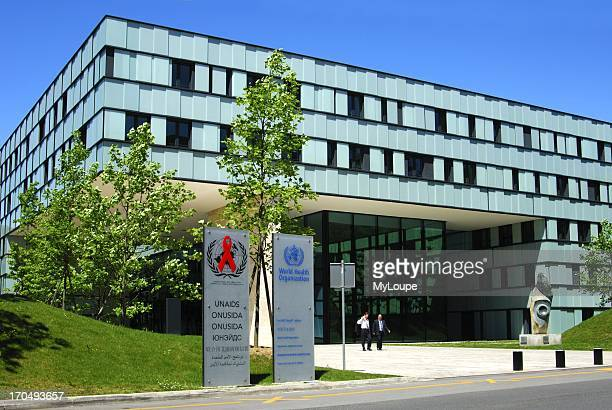 Headquarters of the World Health Organization WHO and of UNAIDS Geneva Switzerland