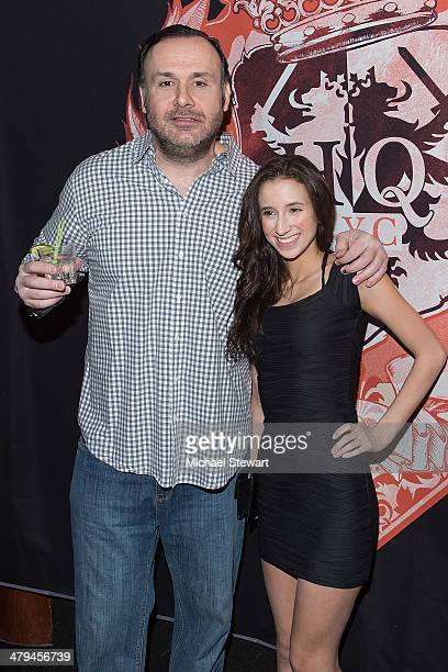HeadQuarters owner Big John and Duke University student and adult actress Belle Knox visit HeadQuarters NYC on March 18 2014 in New York City