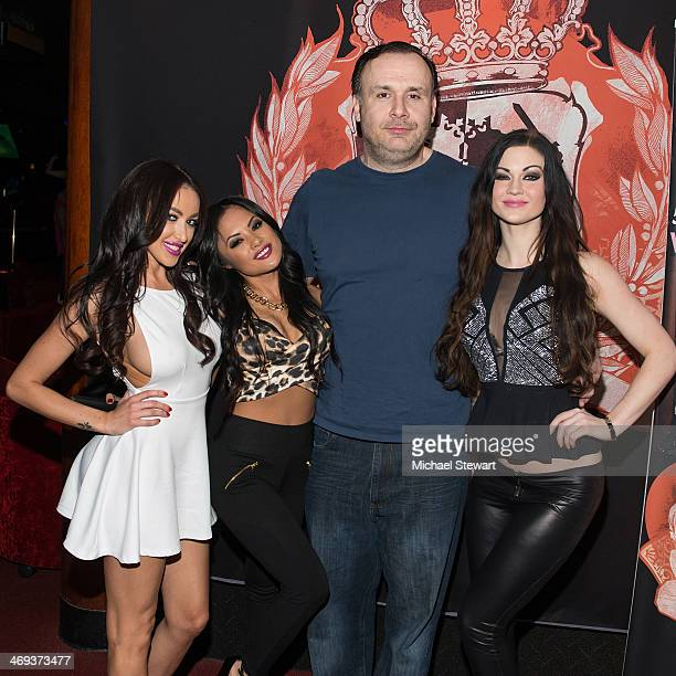 HeadQuarters owner Big John with adult actresses Breanne Benson, Kaylani Lei and Kendall Karson attend Big John's Birthday Celebration at...
