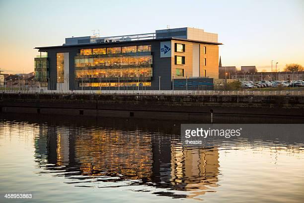 stv (scottish television) headquarters - theasis stockfoto's en -beelden