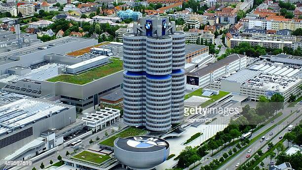 bmw headquarters - bmw stock pictures, royalty-free photos & images