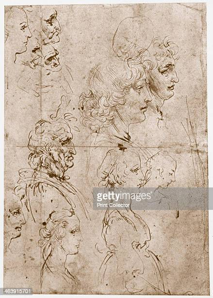 'Heads of Girls Young and Old Men' 14781480 From the collection of the Royal Library Windsor Castle Windsor England