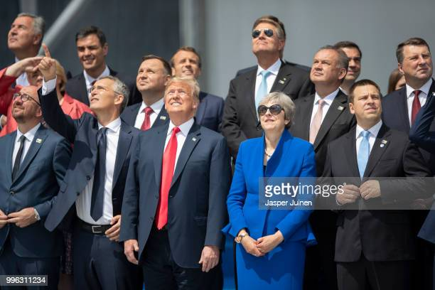 Heads of state and government including Belgian Prime Minister Charles Michel NATO Secretary General Jens Stoltenberg US President Donald Trump...