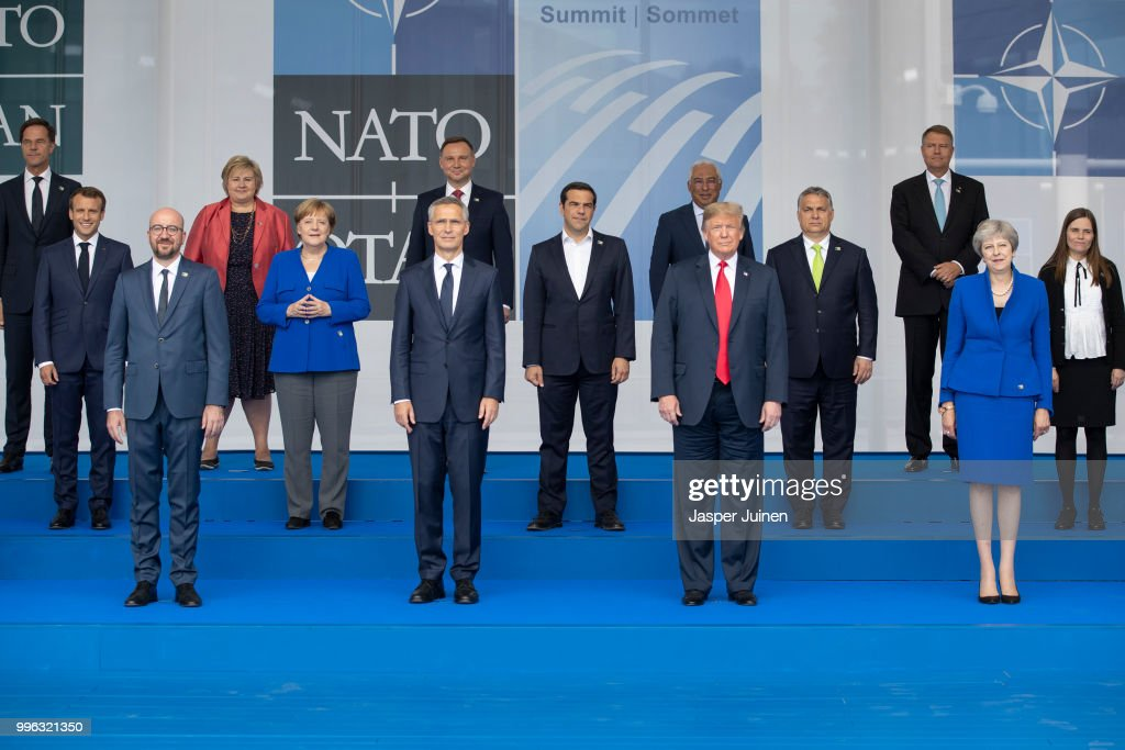 World Leaders Meet For NATO Summit In Brussels : Nachrichtenfoto