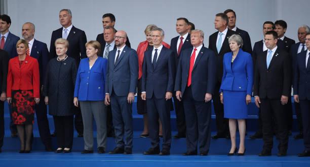 Heads of state and government, including Croatian President Kolinda Grabar-Kitarovic, Lithuanian President Dalia Grybauskaite, German Chancellor...