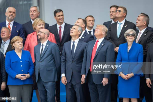 Heads of state and government including German Chancellor Angela Merkel Belgian Prime Minister Charles Michel NATO Secretary General Jens Stoltenberg...