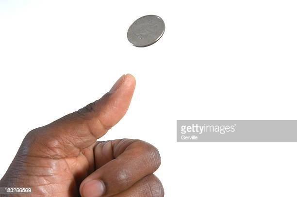 heads or tails - flipping a coin stock pictures, royalty-free photos & images